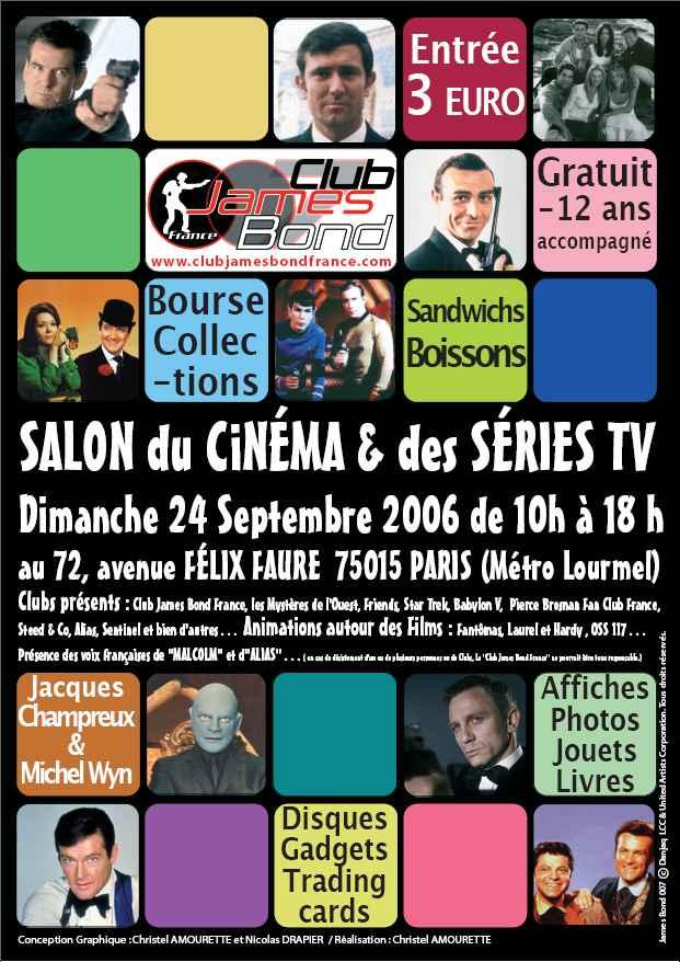 L'affiche du Salon du cinéma et des séries TV en 2005.