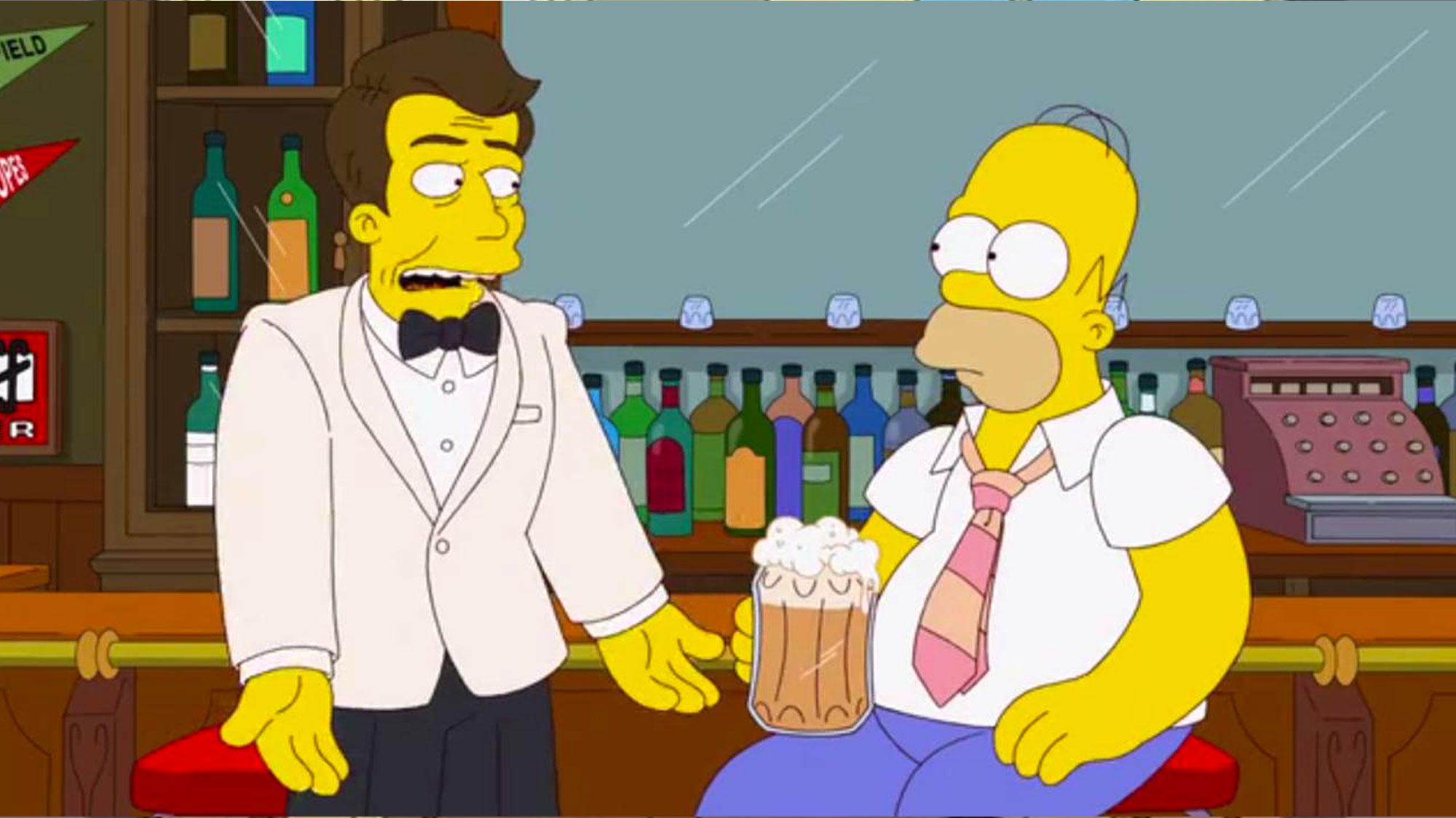Bryan Cranston en espion dans <em>Les Simpson</em>