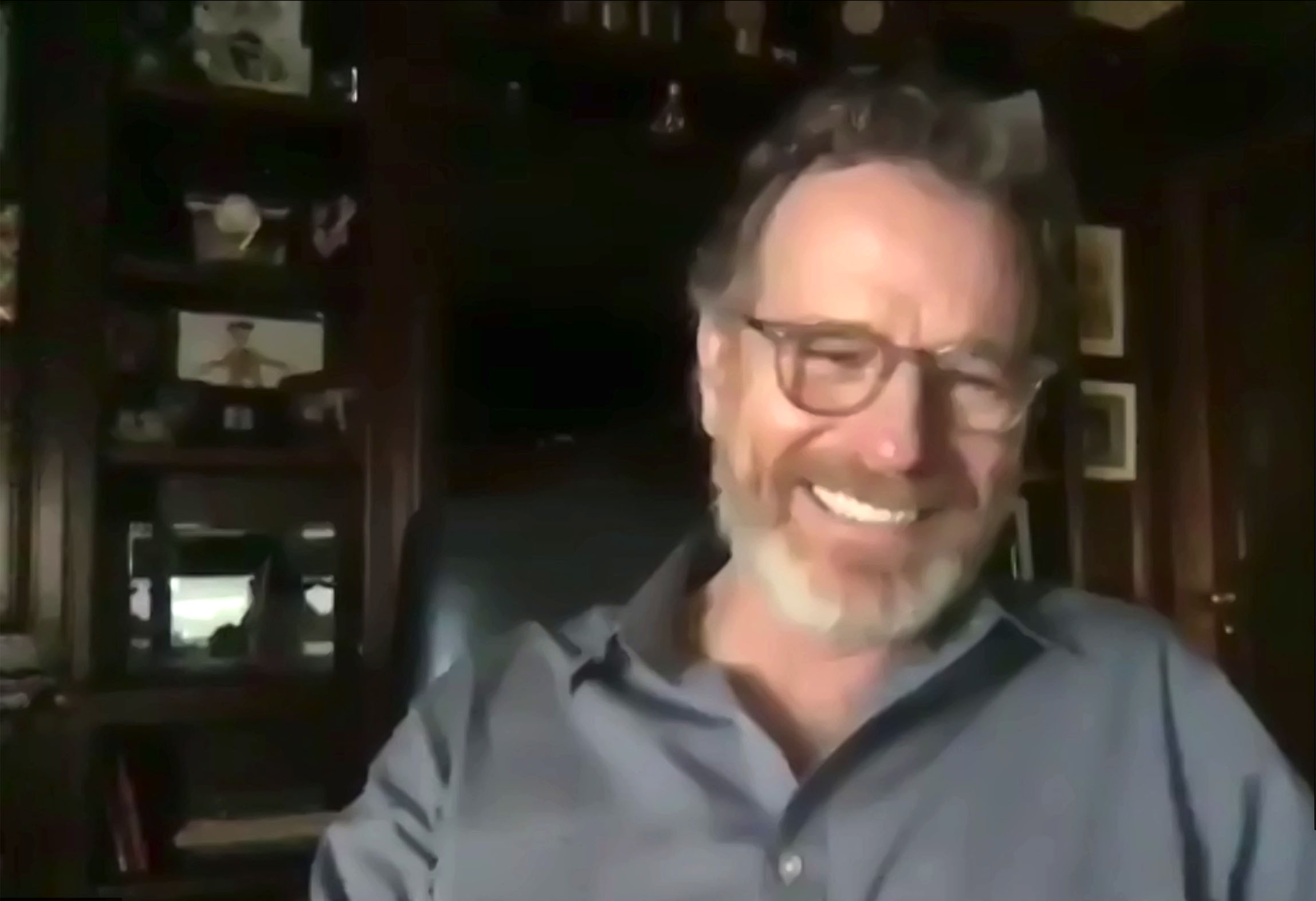 Bryan Cranston (Hal) lors des retrouvailles en ligne pour les 20 ans de la série, le 8 août 2020.