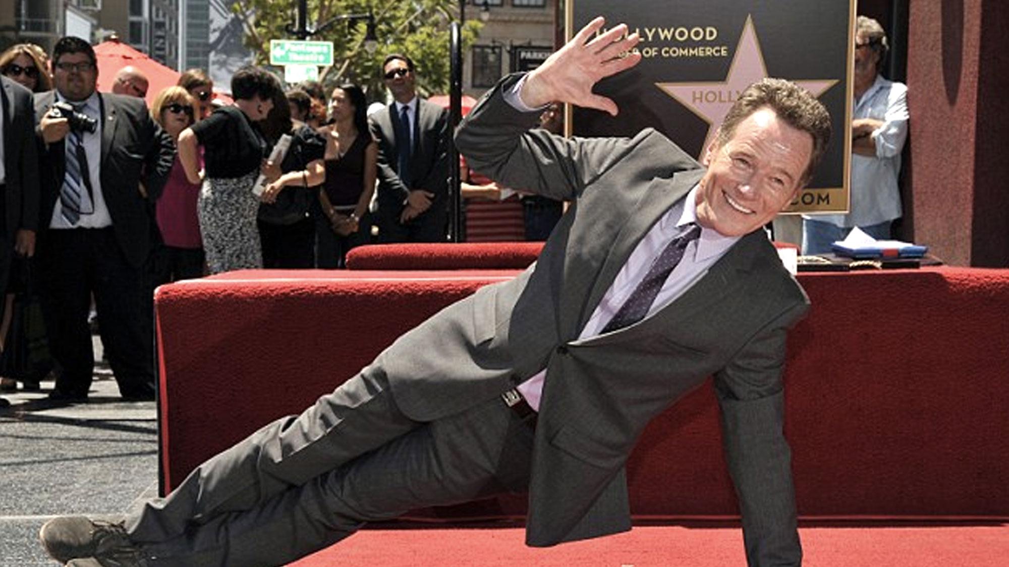 Bryan Cranston décroche son étoile sur Hollywood Boulevard
