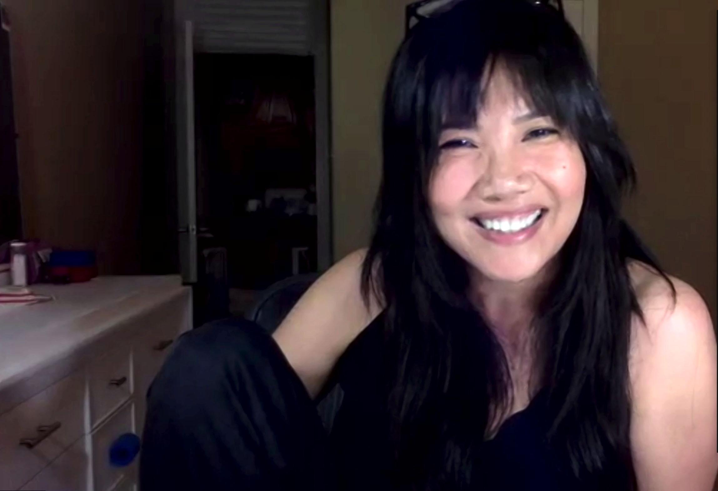 Emy Coligado (Piama) lors des retrouvailles en ligne pour les 20 ans de la série, le 8 août 2020.