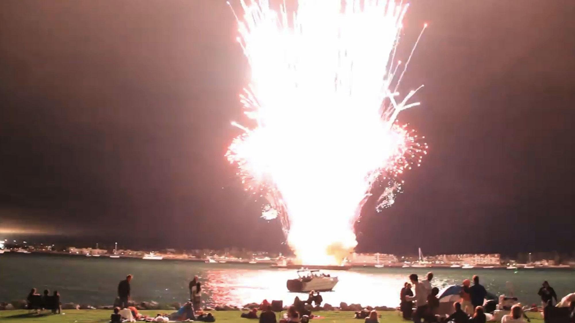 Le feu d'artifice de San Diego en 2012.