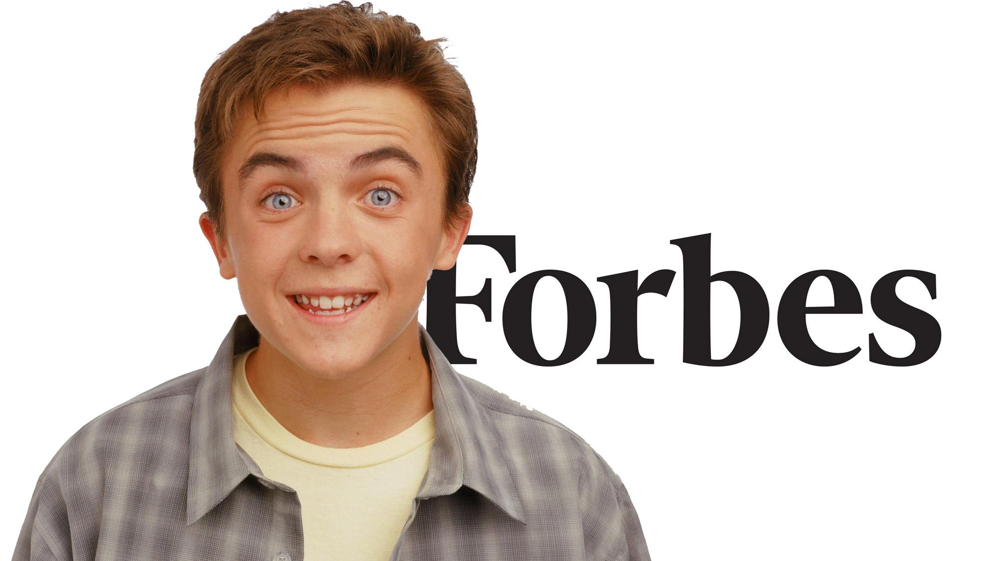 Le classement Forbes de 2005 place Frankie Muniz en 96e position.