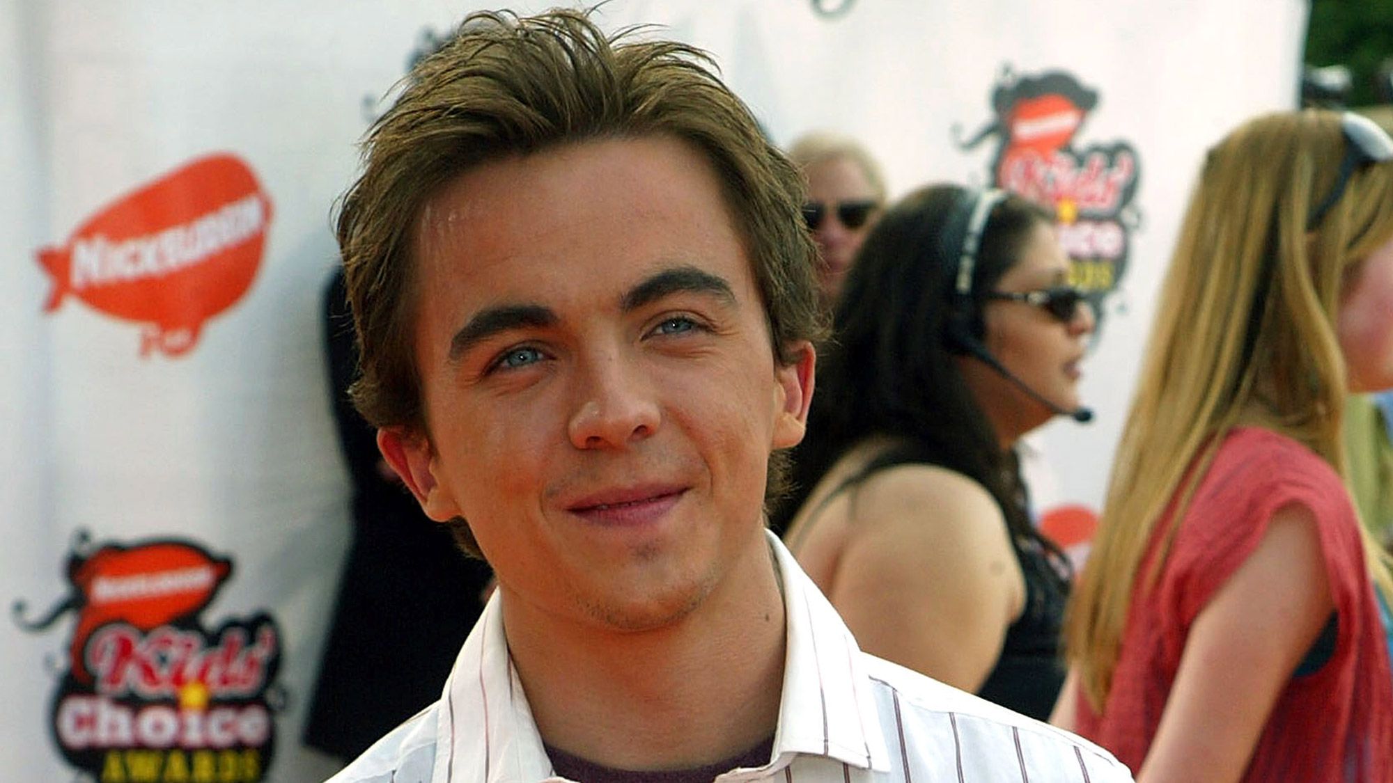 Frankie Muniz sur le tapis orange de la cérémonie des Kids Choice Awards en 2005.