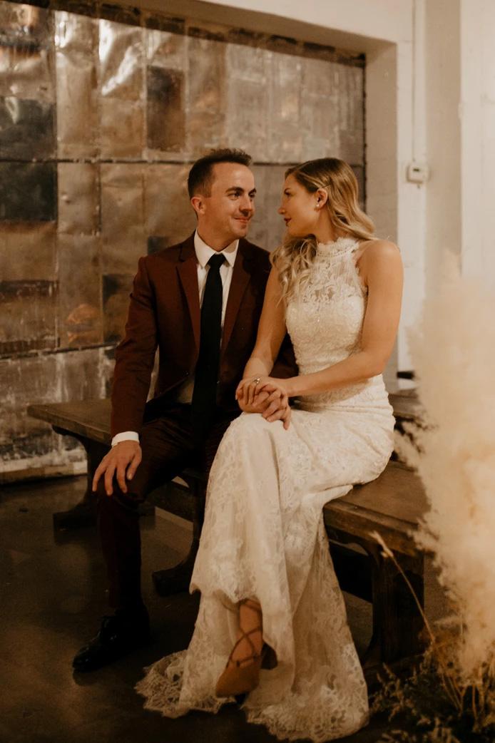 Frankie Muniz et Paige Price lors de leur mariage, le 21 février 2020.