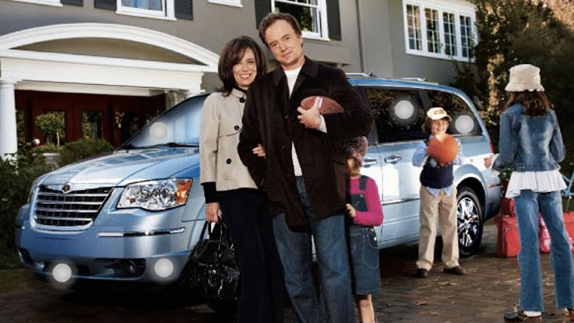 La famille Kaczmarek en campagne pour Chrysler