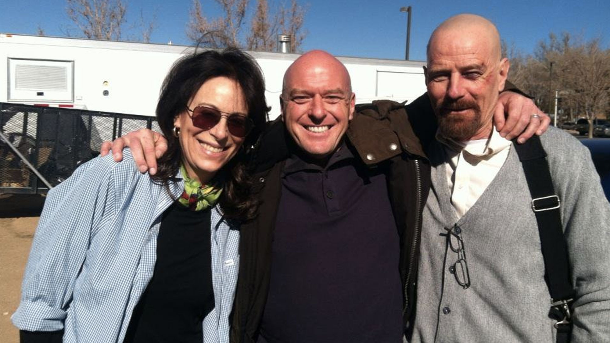 Jane Kaczmarek, Dean Norris et Bryan Cranston.