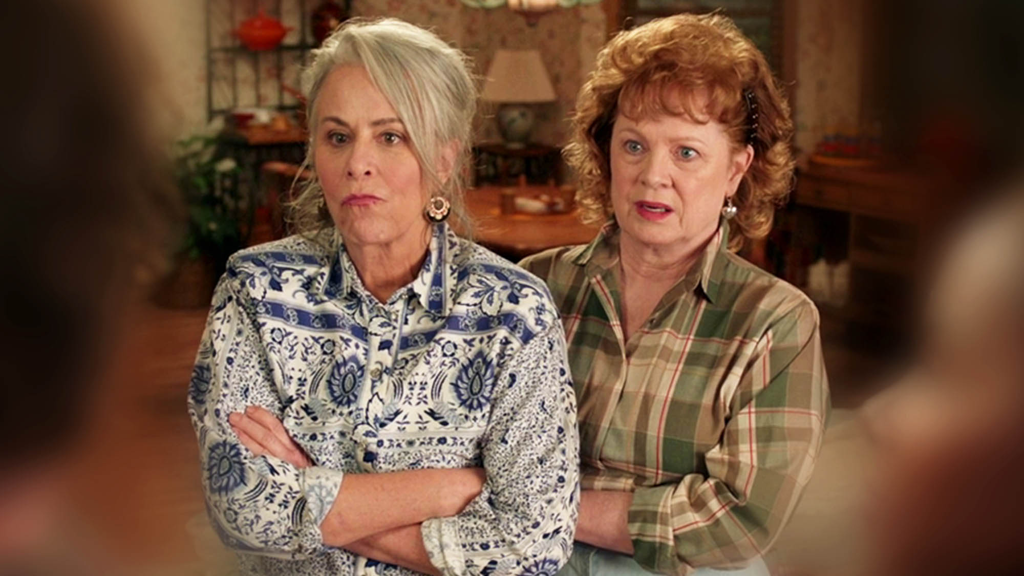 Jane Kaczmarek (Lois) et Meagan Fay (Gretchen) en couple dans <em>Mixed-ish</em>