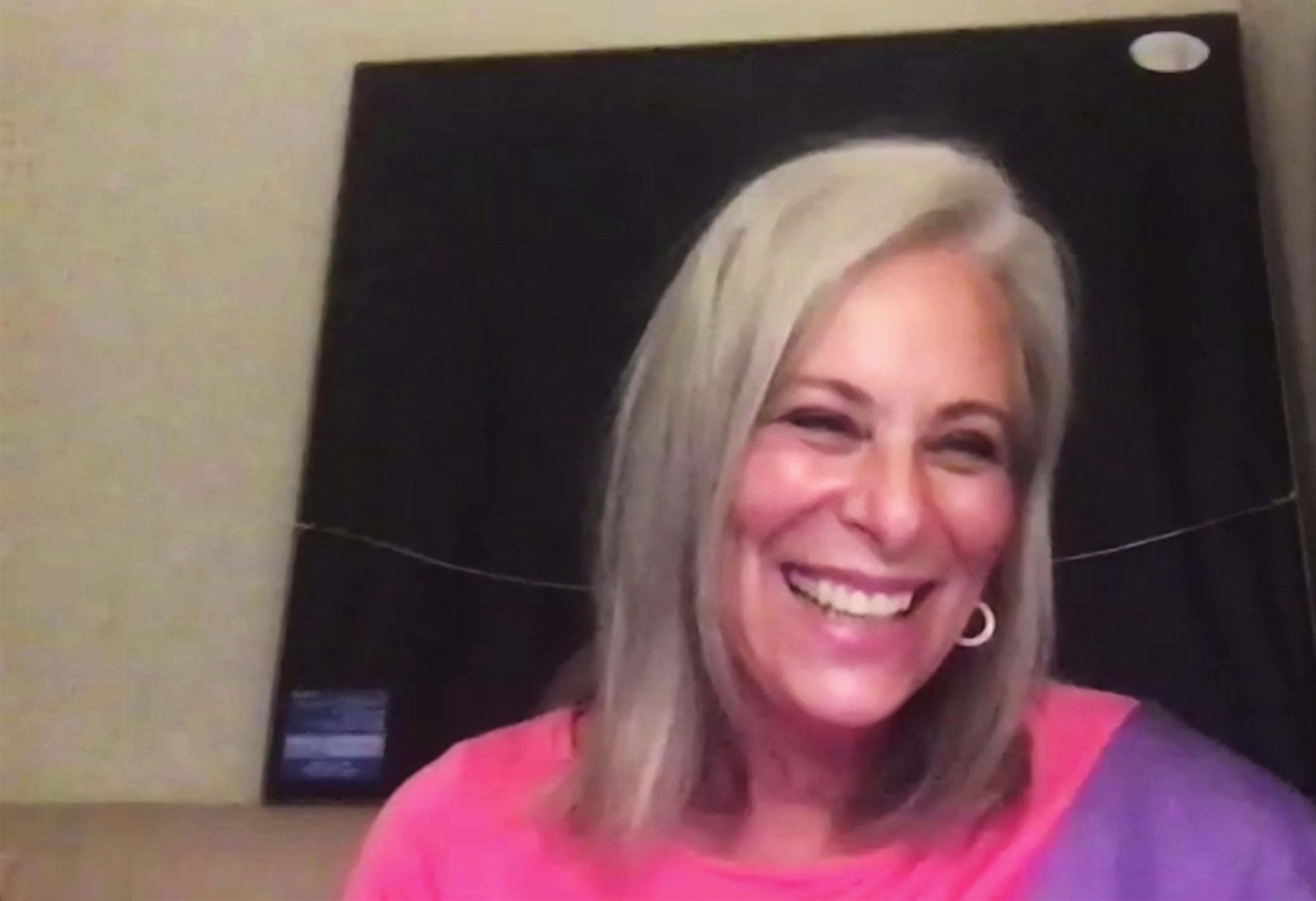 Jane Kaczmarek (Lois) lors des retrouvailles en ligne pour les 20 ans de la série, le 8 août 2020.