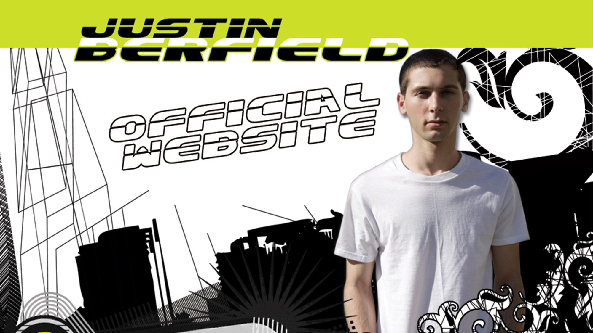Le site internet officiel de Justin Berfield.