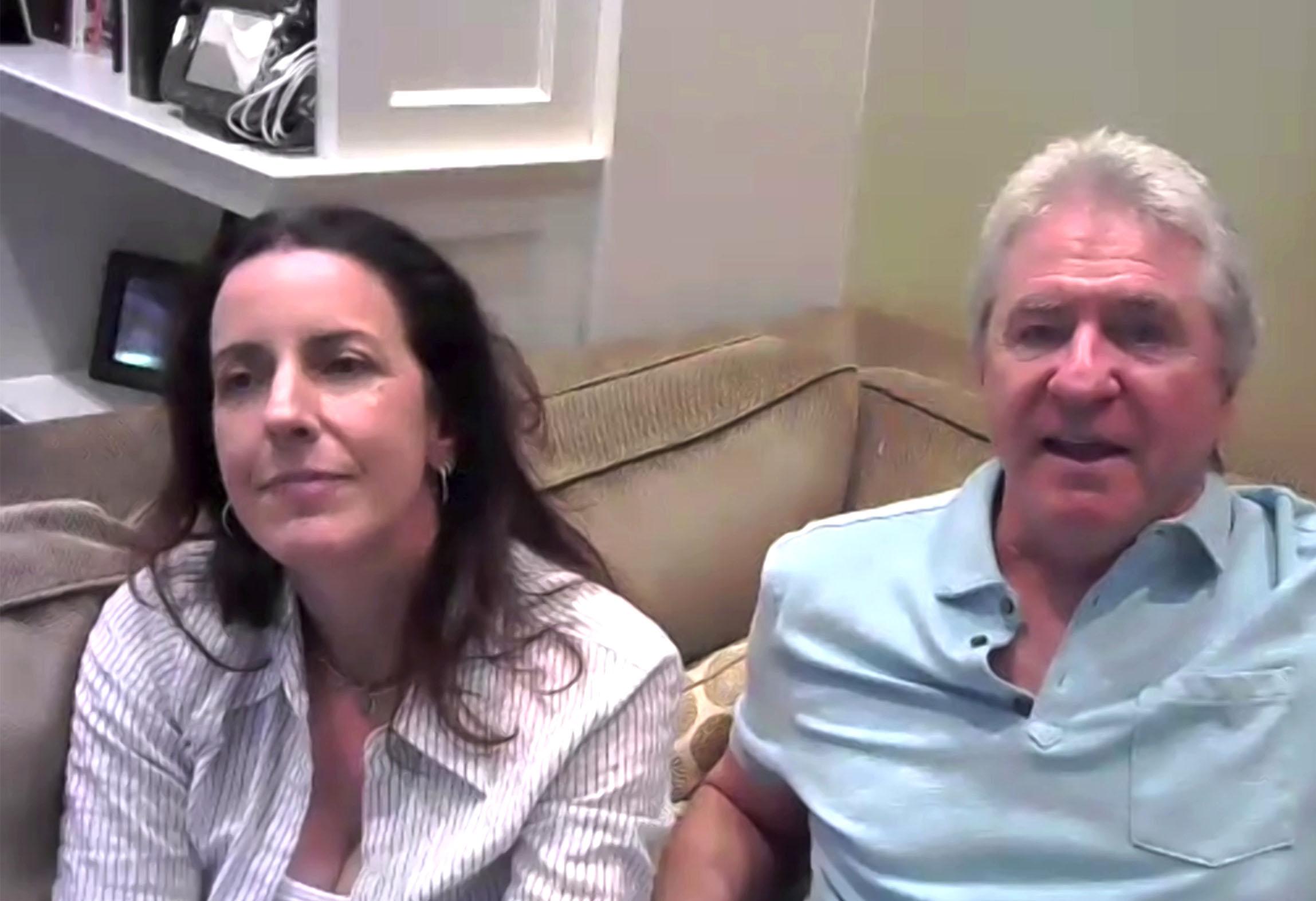 Tracy Katsky et Linwood Boomer lors des retrouvailles en ligne pour les 20 ans de la série, le 8 août 2020.