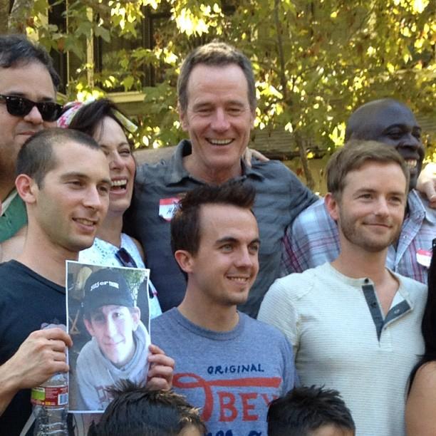 David Anthony Higgins, Jane Kaczmarek, Bryan Cranston, Gary Anthony Williams, Justin Berfield, Frankie Muniz, et Christopher Masterson, le 15 septembre 2012.