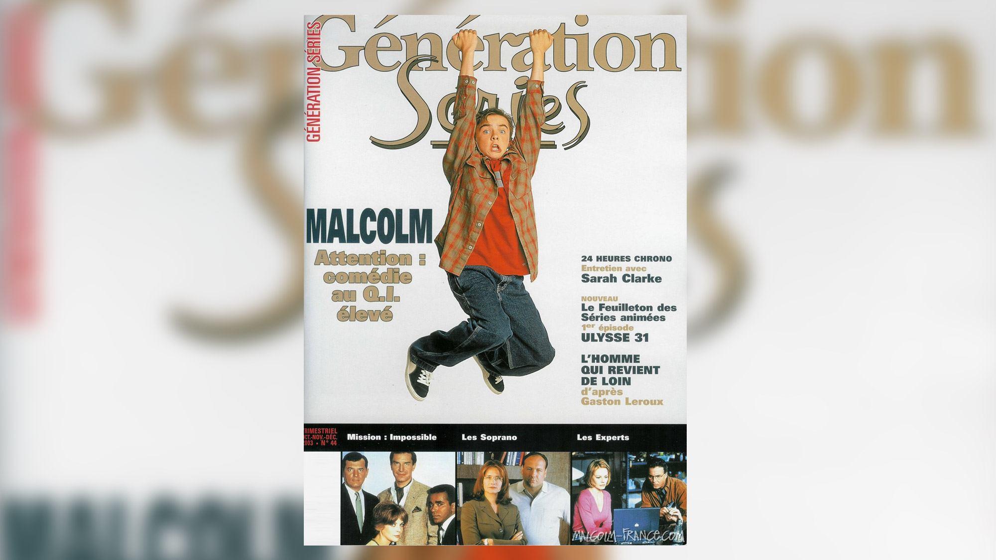 <em>Malcolm</em> fait la une de <em>Génération Séries</em> !