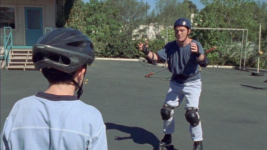 Frankie Muniz (Malcolm), et Bryan Cranston (Hal) dans