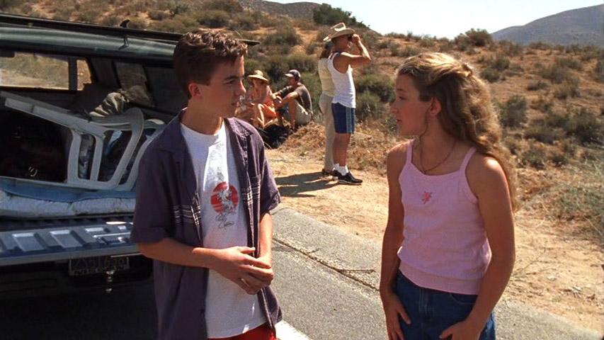 Frankie Muniz (Malcolm) et Hallee Hirsh (Jessica) dans