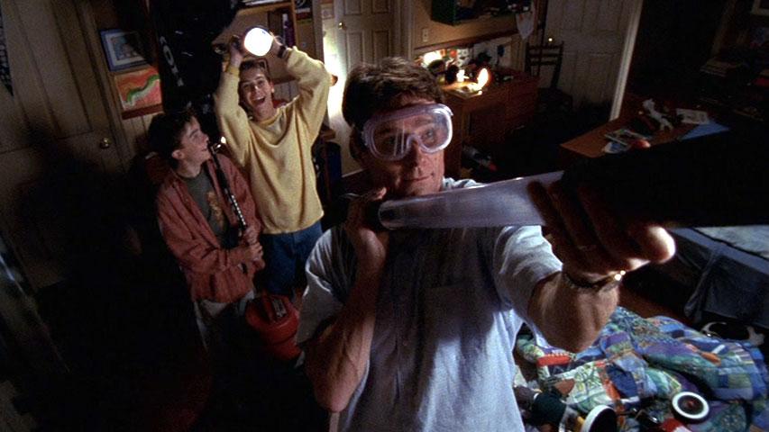 Frankie Muniz (Malcolm), Justin Berfield (Reese) et Bryan Cranston (Hal) dans