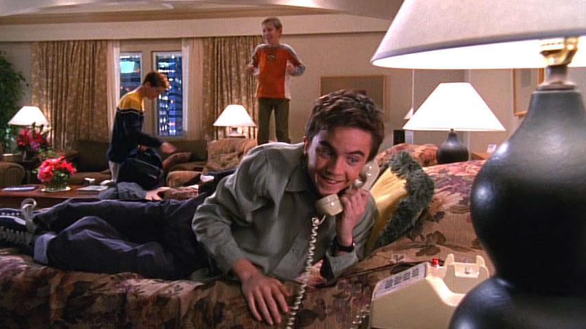 Erik Per Sullivan (Dewey), Justin Berfield (Reese) et Frankie Muniz (Malcolm) dans