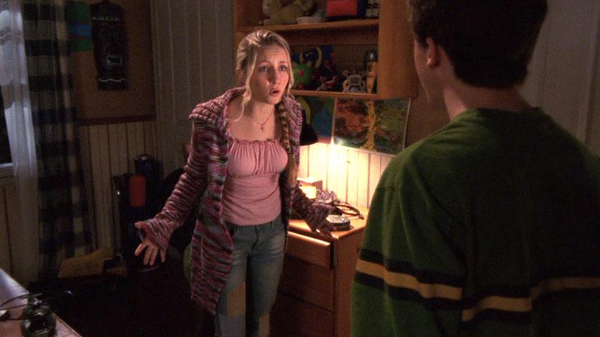 Lindsey Haun (Kristen) et Frankie Muniz (Malcolm) dans
