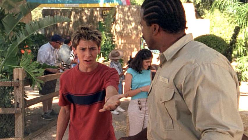 Justin Berfield (Reese) et  Teddy Lane Jr. (Mel, employé du zoo) dans