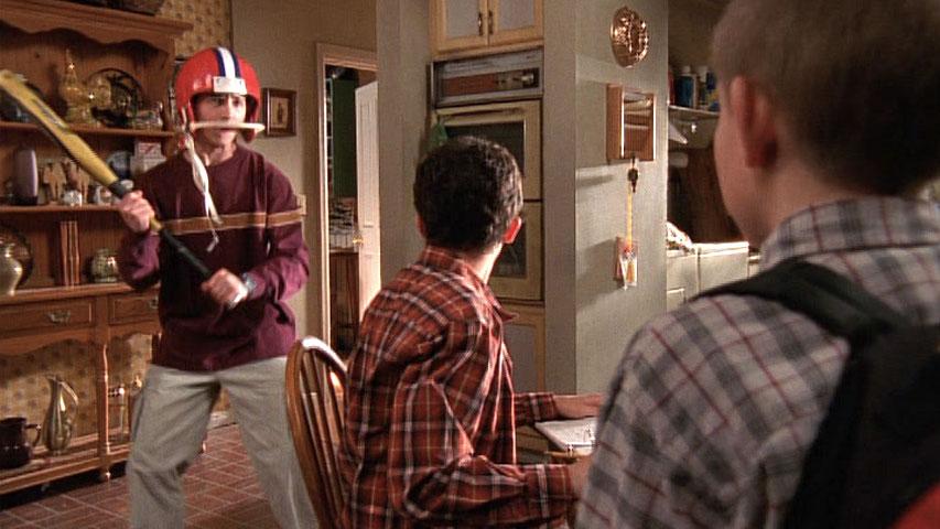 Justin Berfield (Reese), Frankie Muniz (Malcolm) et Erik Per Sullivan (Dewey) dans