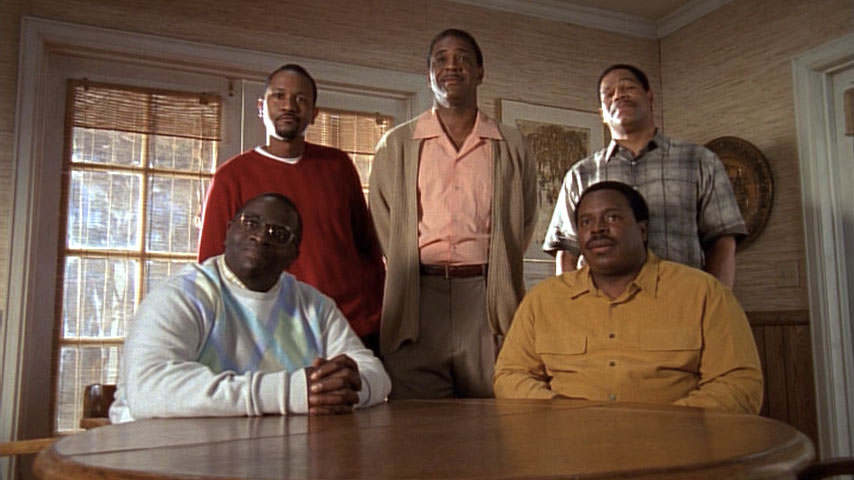 Gary Anthony Williams (Abe), Jonathan Craig Williams (Steve), Alex Morris (Trey), Edward James Gage (Brian) et Dan Martin (Malik) dans