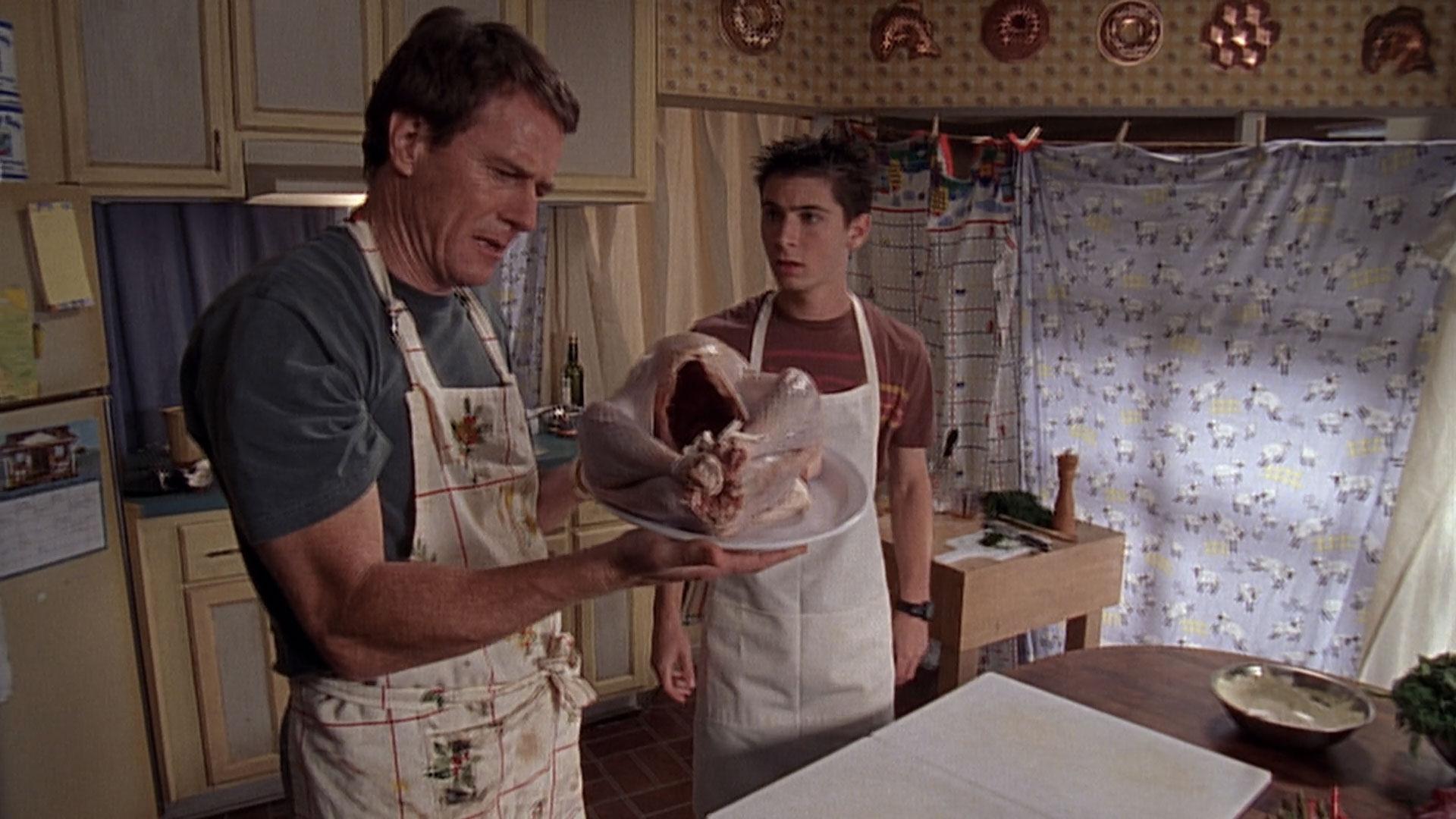 Bryan Cranston (Hal), et Justin Berfield (Reese), dans