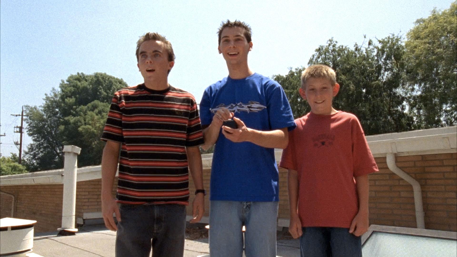 Frankie Muniz (Malcolm), Justin Berfield (Reese) et Erik Per Sullivan (Dewey) dans
