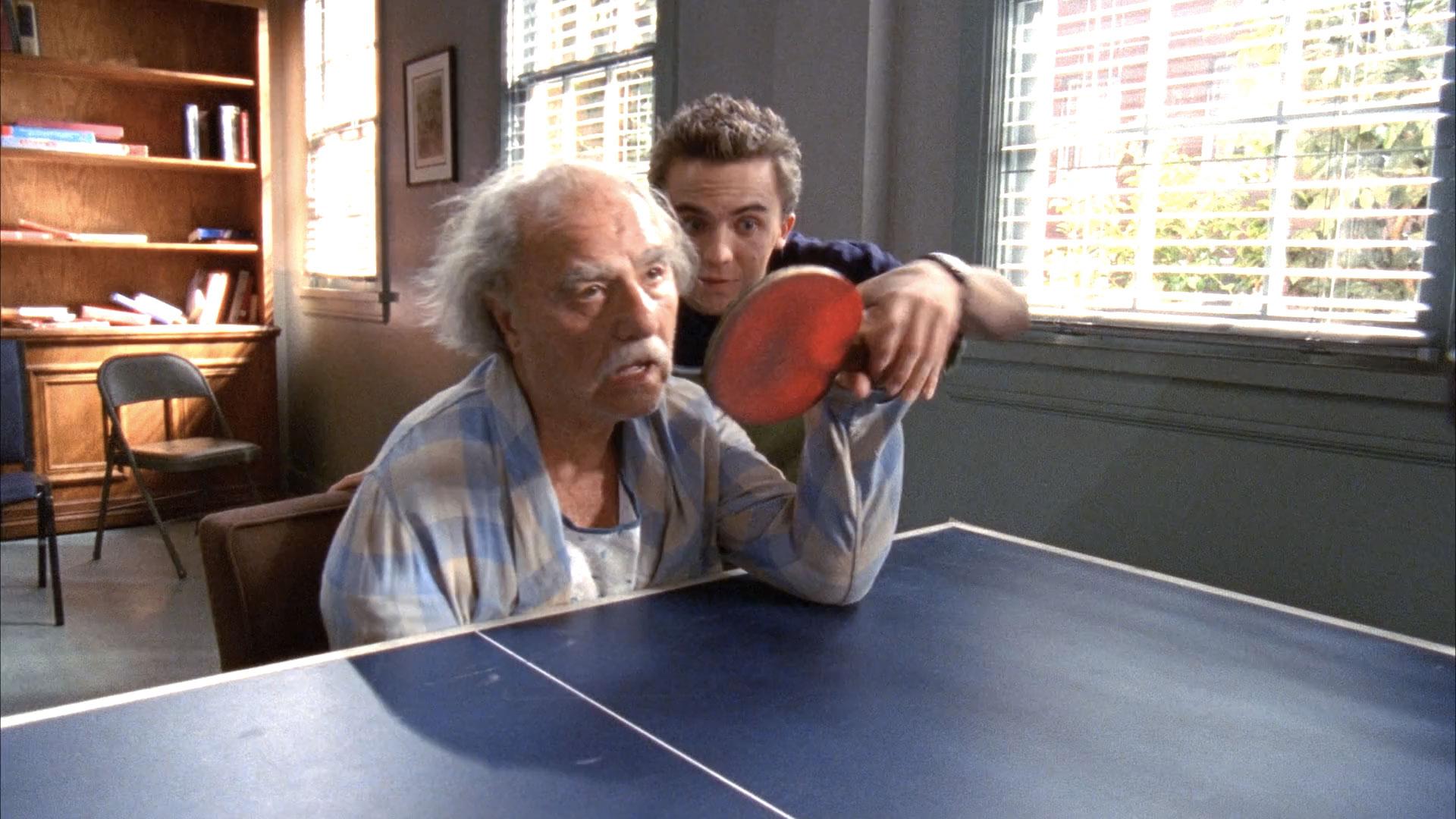 Larry Marko (retraité) et Frankie Muniz (Malcolm) dans