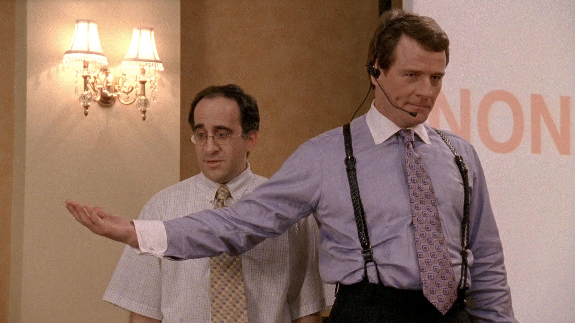 Bob Glouberman (Gerry) et Bryan Cranston (Hal) dans