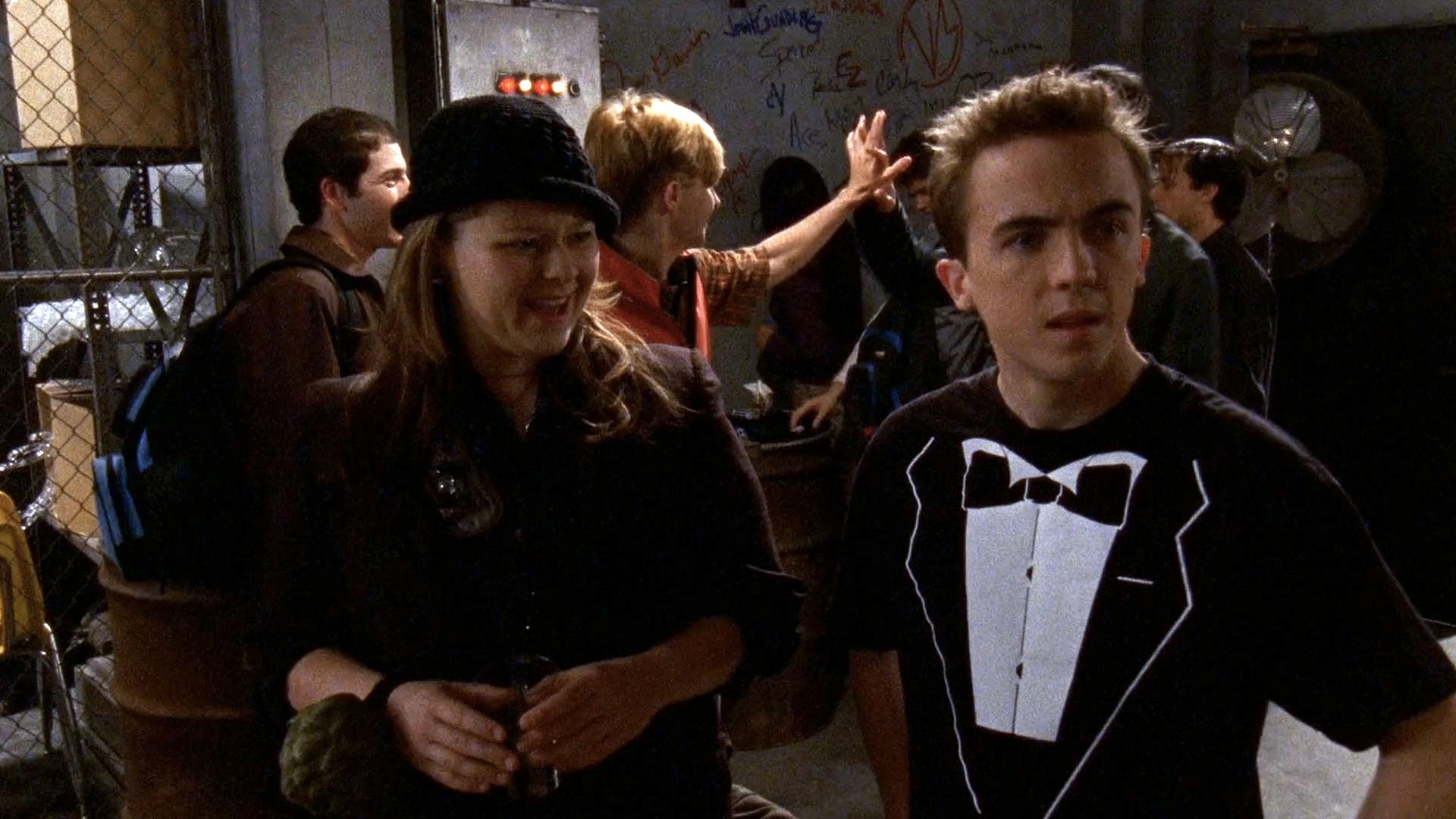 Amy Halloran (Carla) et Frankie Muniz (Malcolm) dans
