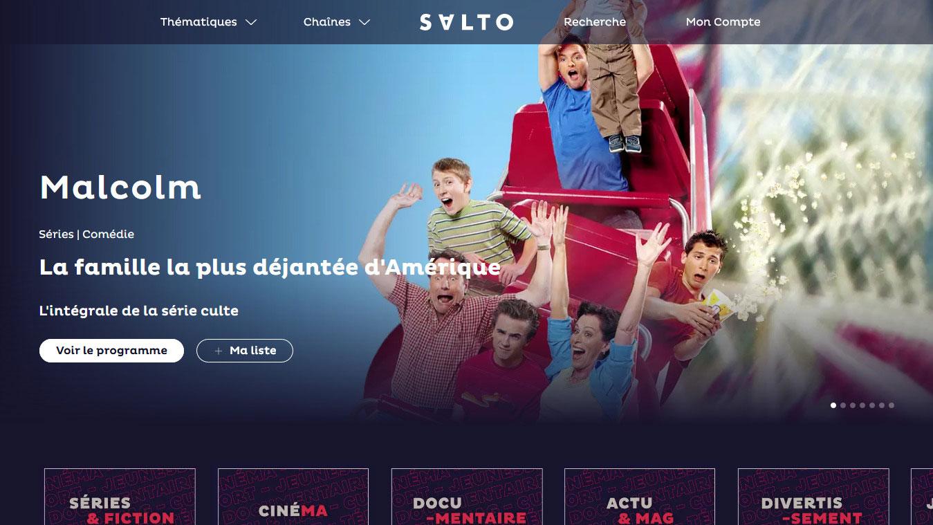 La page d'accueil de l'interface Salto accueillant