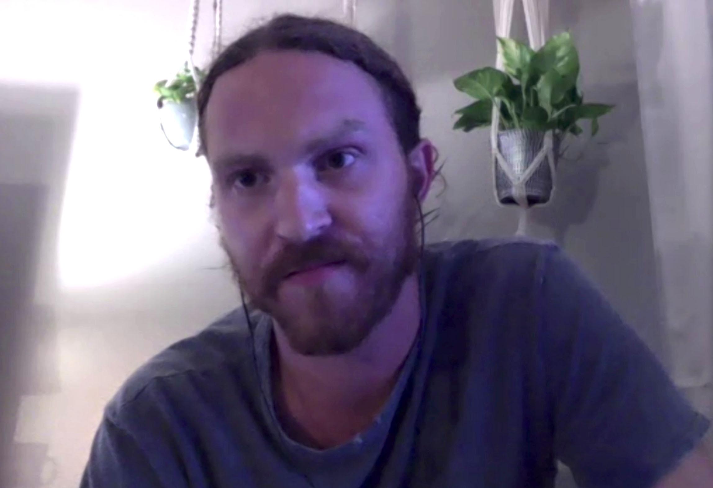 Vincent Berry (Dave Spath) lors des retrouvailles en ligne pour les 20 ans de la série, le 8 août 2020.