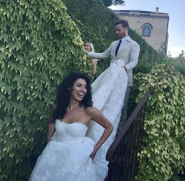 Christopher Masterson et Yolanda Pecoraro lors de leur mariage en juin 2019.